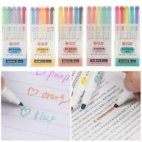 Marker Pen Fluorescent Pen Art Highlighter Drawing Dual Headed Thick//Fine Head