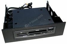"Black Computer PC Case Internal 5.25"" Dual Card Reader Writer with USB 2.0 Port"