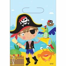8pk Little Pirate Loot Bags Childrens Birthday Party Buccaneer Favours Gift