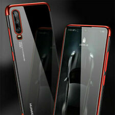Plating Cases Covers For Huawei P20 P30 Pro P9 P8 P10 Hybrid Clear Silicone