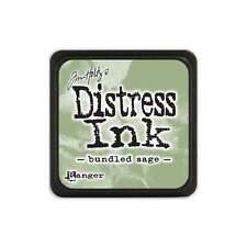 Tim Holtz Mini Distress Ink Pad Bundled Sage Green, Leaf