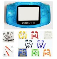 GBA Nintendo Game Boy Advance CLEAR BLUE Replacement Housing SHELL BUTTONS!