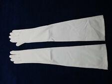 Carolina Amato Long Ivory White Wedding Gloves One size