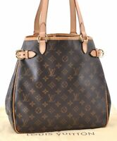 Auth Louis Vuitton Monogram Batignolles Vertical Tote Bag M51153 LV A8617