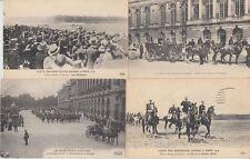 Denmark Royalty Visit 1907 Paris 25 Vintage Postcards