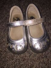 New listing Girls Size 7 Toddler Shoes By See Kai Run Silver Leather