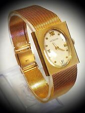 Rare! & Vintage! LeCoultre 14K Solid Gold Case & Band Laidess Wristwatch..!! # E
