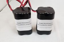 Emergency Light Exit Sign 4.8V 700MAH Ni Cd Battery Replacement / 2 Pack