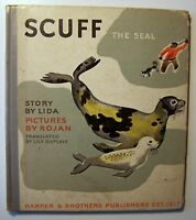 SCUFF THE SEAL Lida ILLUS Rojan 1937 1st Edition HC Trans by Lily Duplaix - 1/2