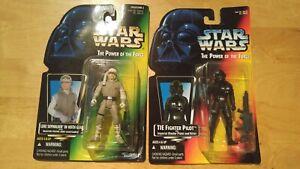 Luke Skywalker Hoth Tie Pilot 2 Lot; MOC; Kenner; 1995; POTF 2; Star Wars; red