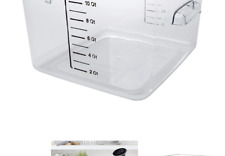 Rubbermaid Commercial Products Plastic Space Saving Square Food Storage Conta.