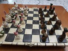 2401 + 9052 Scacchiera Gnomi vs Alberi Guerrieri con base