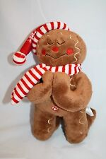 Fiesta Plush Kneeling GINGERBREAD MAN Praying Tis So Sweet To Trust Jesus Toy 9""