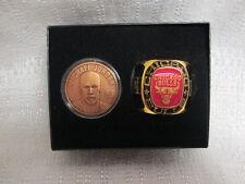 Michael Jordan Bulls Highland Mint Bronze Coin Team Ring Paperweight