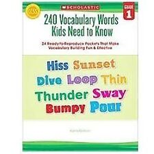 240 Vocabulary Words Kids Need to Know, Grade 1 : 24 Ready-to-Reproduce...