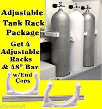 Scuba Tank Rack adjustable boat storage roll controll Max Rax racks