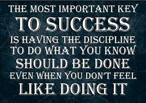 INSPIRATIONAL QUOTE SIGN / PRINT / POSTER THE MOST IMPORTANT KEY TO SUCCESS