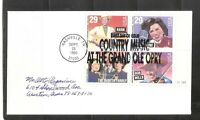 US SC # 2771-2774 Country Music BLK4.  FDC. No Cachet