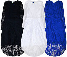 Girls New Flower Bridesmaid Lace Dress Kids Princess Prom Wedding Dresses 7-13 Y