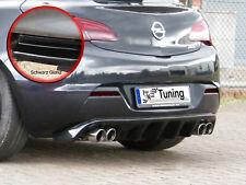 DIFFUSORE Posteriore approccio posteriore posteriore grembiule da ABS per OPEL ASTRA J GTC Nero Lucido