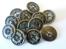 13 DIFFERENT SILVER SETS OF SHANK BUTTONS TO CHOOSE FROM METAL & ACRYLIC