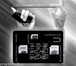 2 X SIM Card Case SIM Card Storage Holder with 3 sim card Adapters 1 Iphone Pin