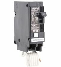 Siemens plug in Breaker plug in 20 amp 1 Pole ground fault GFi gfci qf120a qf120
