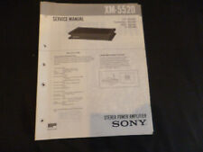 ORIGINALI service manual Sony xm-5520
