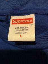 Supreme Tee Shirt Plain Royal Blue Size L