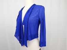 INC Petite Cropped Open Front Draped Cardigan Sweater Goddess Blue PP PXS #4708