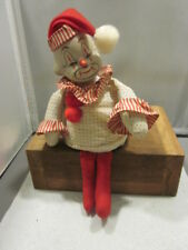 Vintage Clown on a Shelf Music Box with Moving Head Works