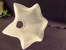 """Ruffle Satin Frosted Glass Lamp Light Replacement Shade 2.25"""" Fitter"""