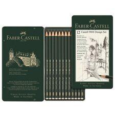 FABER-CASTELL Bleistift Set ART 119065 od. DESIGN 119064 Bleistifte CASTELL 9000