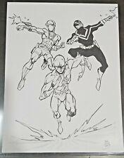 Original 17x11 art sketch by BEN DUNN Deadshot Flash Vigilante