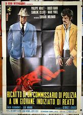 manifesto 4F originale LES AVEUX LES PLUS DOUX Philippe Noiret Marc Porel 1971