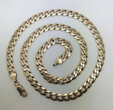 """18"""" long 9ct yellow gold Curb chain total weight 13.19 grams Trigger Value £725"""