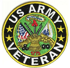 Embroidered Biker Patch : Veteran US Army Patch - 3x3 inch (NEW) | Military
