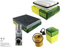 MANN-FILTER Paket + Presto Klima-Reiniger für Toyota Avensis Station Wagon ZRT27