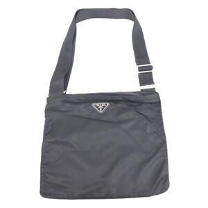 PRADA Shoulder Bag Nylon Logo Black