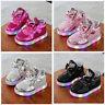 LED Kids Boys Girls Shoes Light Up Luminous Children Trainers Sport Sneakers Uk