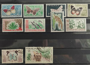 Madagascar Malgache 1960 10 values part set MH(8) USED(2)
