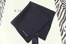 POLO RALPH LAUREN Pocket Square SOLID Italy Made Black Silk Hankie BNWT RRP£79
