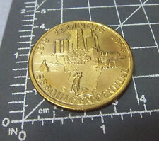 Illinois Sesquicentennial Brass collectors token, 1968, 150 yrs of progress nice