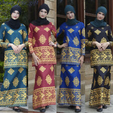2 Pcs African Women Dashiki Ethnic Clothing Muslim Tops + Long Skirt Abaya Sets