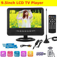 """9.5"""" Portable LCD HD Car Analog Mobile TV Player Television FM Remote Control SS"""