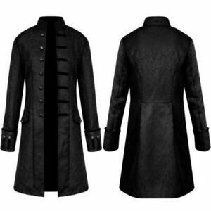Vintage Steampunk Tailcoat Jacket Mens Gothic Victorian Frock Coat Cosplay Suit