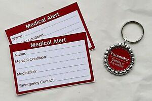 Pacemaker Medical Alert Keyring & Cards by Curiosity Crafts