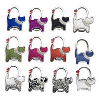 1Pc Cat pattern folding bag handbag tote table hanger hook holder purse hange fg