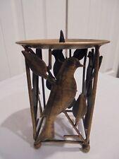 Goldtone Finish Bird Candle Holder For Larger Candle Shelf Decor