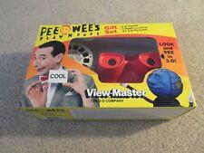 View Master 3D Gift Set Pee Wee's Playhouse Viewer & 3 Reels 1988 MISB
